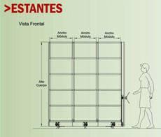 medidas racks penetrables vista lateral
